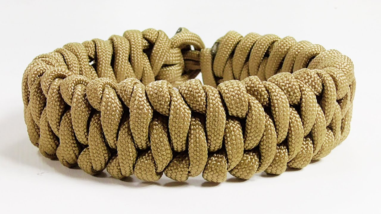 How To Make A January Paracord Bracelet Design Without Buckle