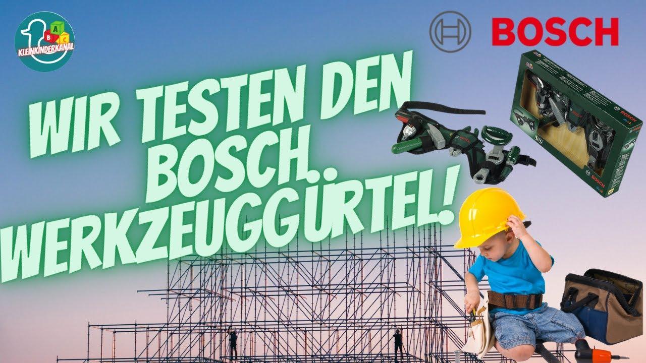 Bosch Werkzeuggurtel Mit Akkuschrauber Test Fur Eltern Youtube