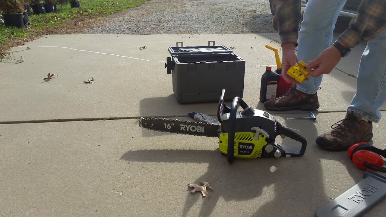 First Start With The Ryobi 16 Chainsaw
