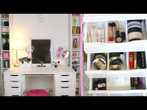 lufy rangement makeup sp cial petit espace youtube. Black Bedroom Furniture Sets. Home Design Ideas