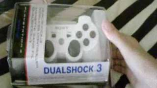 White PS3 Controller Unboxing