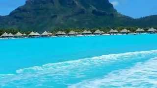 Bora Bora jet skiing pass St Regis Hotel, where Couples Retreat was filmed