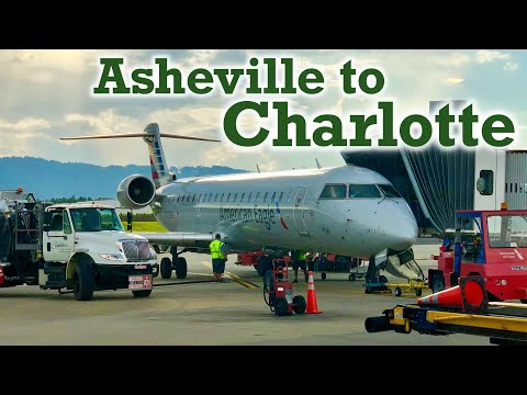 Full Flight: American Eagle CRJ-700 Asheville To Charlotte (AVL-CLT)