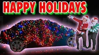 1,000,000 CHRISTMAS LIGHTS ON CAR PRANK! (SURPRISE)