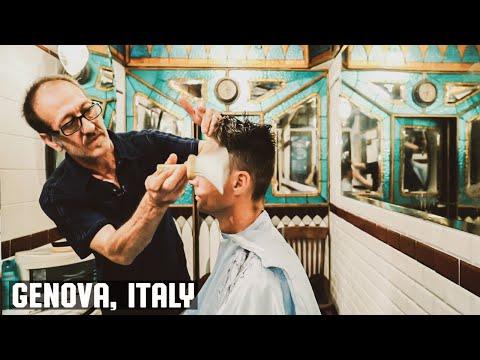 Antica Barberia Giacalone - Genova, Italy Haircut Experience