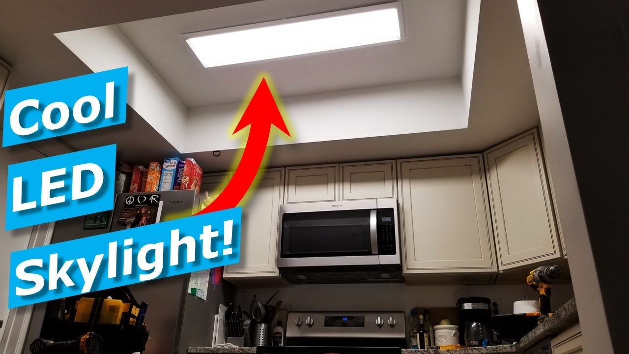 Kitchen Light Fixture How To Install Skylight Led Panel Costco Artika Youtube