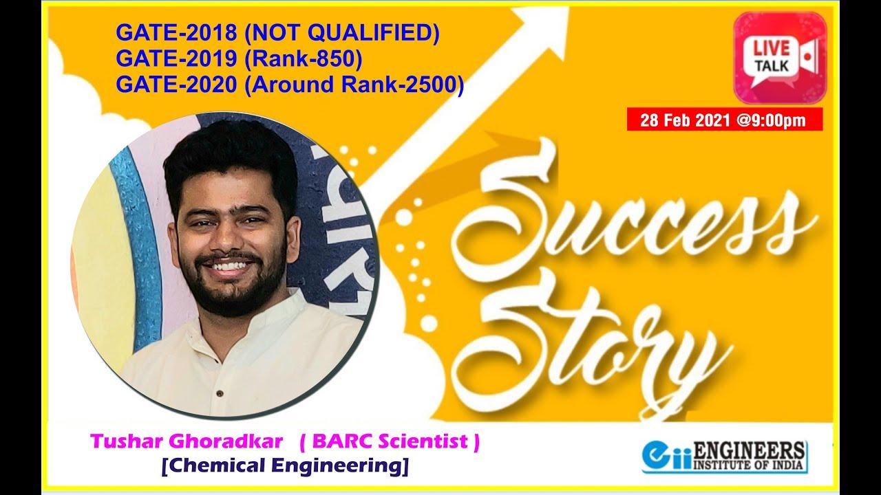 Download LIVE : Inspiring story of Tushar Ghoradkar ( BARC Scientist )(LIT Nagpur, Chemical Engineer)