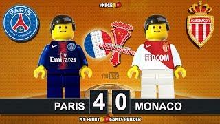 Paris Saint-Germain PSG vs Monaco 4-0 • Trophée des champions 2018 • Goals Highlights Lego Football