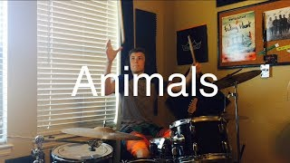 Animals Rock Metal Remix Maroon 5 Living In Fiction Drum Cover H DRUMM3R