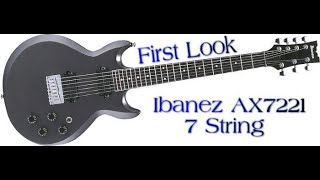 A Look at the Ibanez AX7221 7 String Guitar