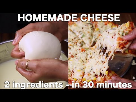 how to make cheese in 30 minute   घर पर बनाएं मोज़ेरेला चीज़   mozzarella cheese without rennet