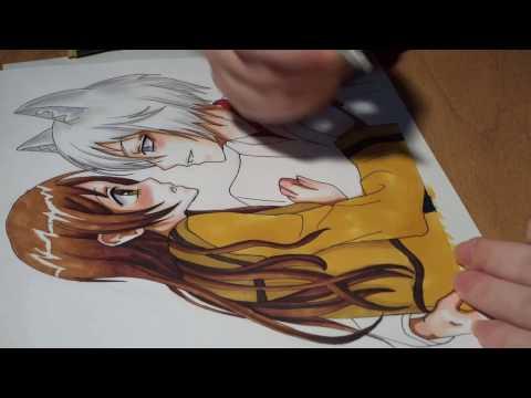 Очень приятно, Бог / Kamisama HAJIMEMASHITA / Very nice, God / Drawing Anime / Nanami and Tomoe
