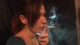 vuclip SMOKING GIRL NATTY - BEAUTIFUL NOSE EXHALES - NOSTRIL EXHALES.MP4