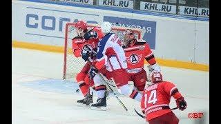 "ХК ""Автомобилист"" vs ХК ЦСКА, 2:3, 14/10/2017. Все голы, острые моменты."