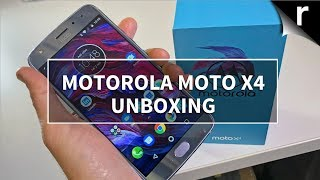 Motorola Moto X4 Unboxing & Hands-on Review