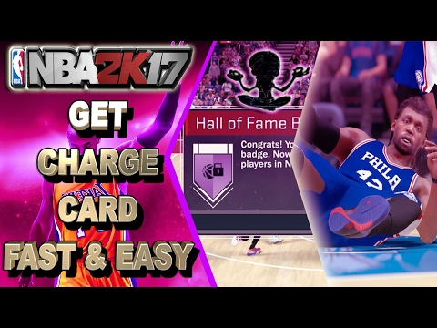 GET CHARGE CARD EASY FOR ALL ARCHETYPES | HALL OF FAME CHARGE CARD TIPS - NBA 2K17 BADGE TUTORIAL