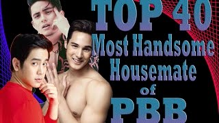 TOP 40 | Most Handsome Housemate of PBB