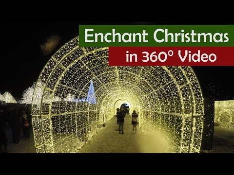 360° Video of Vancouver's Enchant Christmas Maze