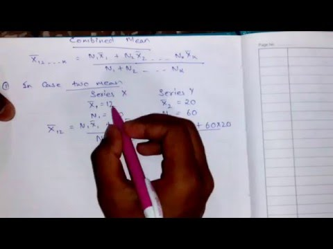 COMBINED MEAN CLASS IN HINDI