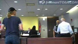 freeman in court - judge bows to Sovereign - Canada