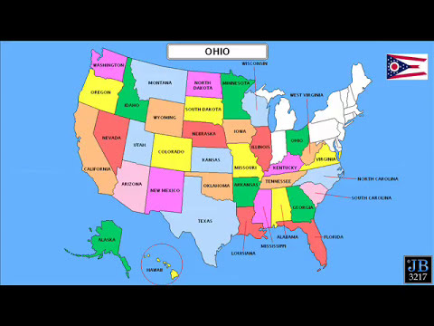 Learn The Names Of All 50 States Of The United States Of America #2 ...