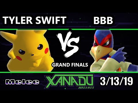 S@X 293 SSBM - Tyler Swift [L] (Pikachu)  Vs. BBB  (Falco) - Smash Melee Grand Finals thumbnail