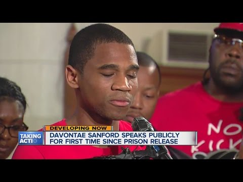 Davontae Sanford speaks about his release from prison