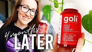 Goli Apple Cider Vinegar Gummies REVIEW // 4 Months Later