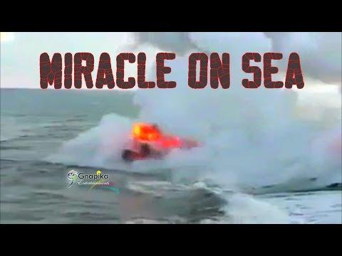Miracle on sea  ||  Big Island lava flow