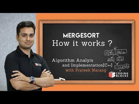 Merge Sort - How it works ? Algorithm + Code