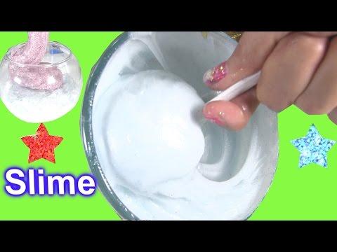 Cách Làm Chất Nhờn Ma Quái Kim Tuyến Hồng Trắng - Trang Trí Lọ Thủy Tinh Bằng Slime