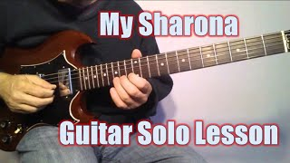 Guitar Lesson: My Sharona Solo Note for Note