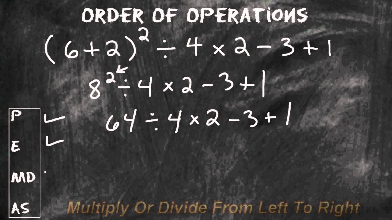 Solving order of operations math problems