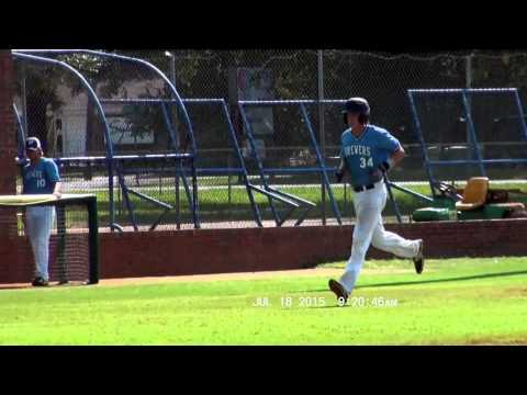 Spencer Cayten-Mid South Brewers versus TCB at Pensacola State College 7-18-2015 tater trot