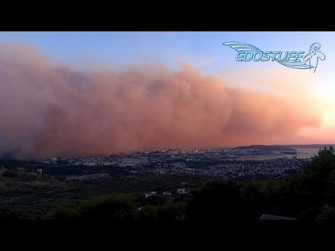 Požar u okolici Splita / Massive Wildfire near Split City - Croatia 2017 HD