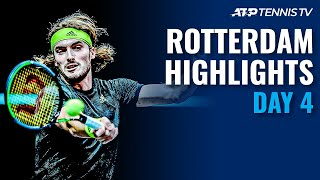 Tsitsipas vs Hurkacz; Goffin, Bublik, Paul & Coric in Action | Rotterdam 2021 Highlights Day 4