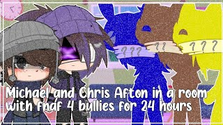 Michael and Chris Afton stuck in a room with FNAF 4 bullies for 24 hours // Gacha Club // Fnaf