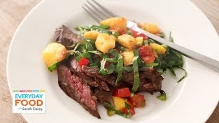 Skirt Steak With Grilled Peach Salsa - Everyday Food With Sarah Carey