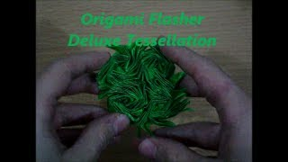 Origami Flasher Deluxe Tesselation designed by Jeremy Shafer (Not a Tutorial) Thumbnail