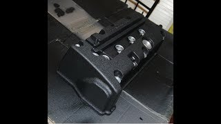 How to: Black (VHT) wrinkle paint on valve cover.