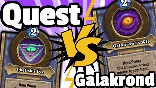 What's Better? Galakrond Priest Or Quest Priest - Hearthstone Descent Of Dragons