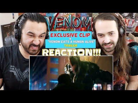VENOM - Venom Eats a Human A & Eddie Brock Ambushes Carlton Drake CLIP - TRAILER REACTIONS