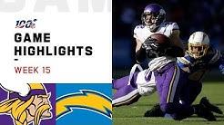 Vikings vs. Chargers Week 15 Highlights | NFL 2019