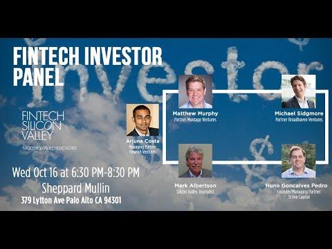 FinTech Investor panel #fintechinvesting