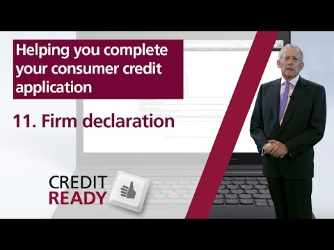 11. Firm Declaration - FCA Consumer Credit Guides