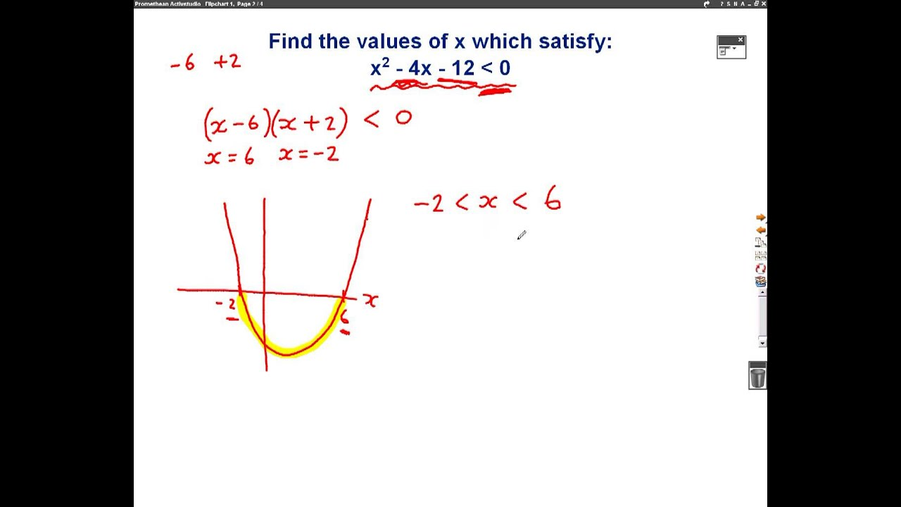 Quadratic Inequalities Mathscast - YouTube