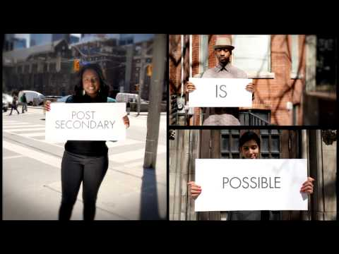 Post Secondary is Possible! Youth Testimonials on Post-Secondary Education