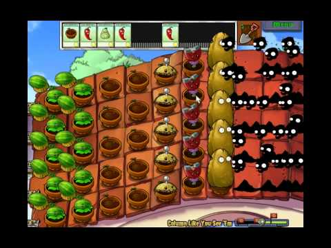Plants vs zombies (Mini-games) - 12 Column like you see 'em (HD)