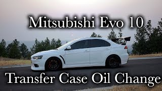Very Easy! Mitsubishi Evolution Transfer Case Oil Change