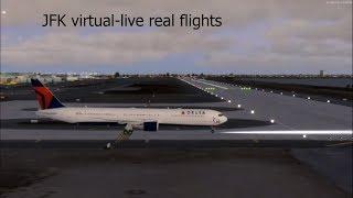 SFO Virtual airport Live real life flights departures virtualised